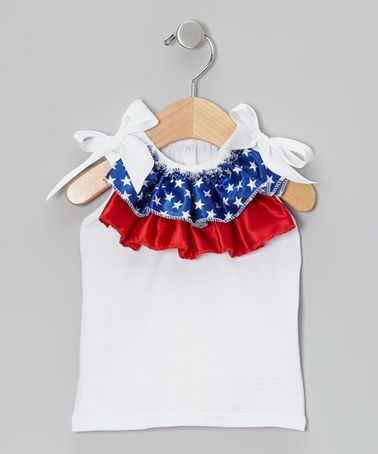 Look at this #zulilyfind! Patriotic Ruffled Tank - Infant, Toddler & Girls by Miss Fancy Pants #zulilyfinds