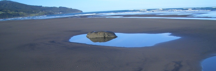 Volcanic Rockpools on Iron-Sand Raglan