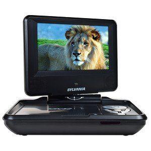 #2: Sylvania SDVD7027, 7-Inch Portable DVD Player with Car Bag/Kit, Swivel Screen, USB/SD Card Reader (Black).