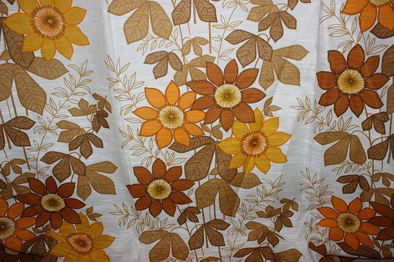 Beautiful vintage retro mid century pair of Curtain lengths