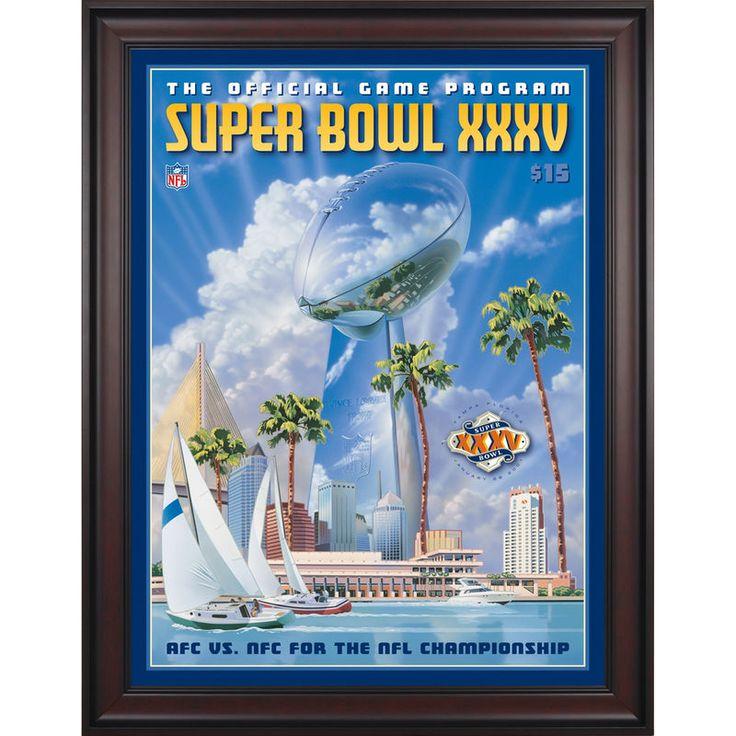 "Fanatics Authentic 2001 Ravens vs. Giants Framed 36"" x 48"" Canvas Super Bowl XXXV Program"