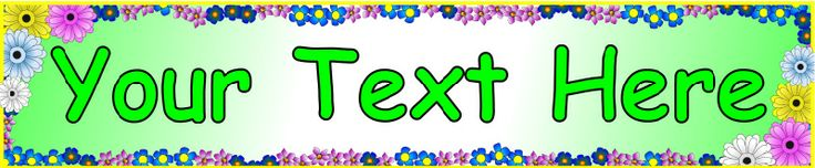 Editable flowers/blossom display banner template (SB1229) - SparkleBox