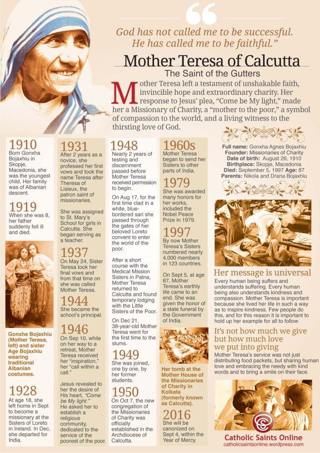 St in a few days Mother Teresa of Calcutta