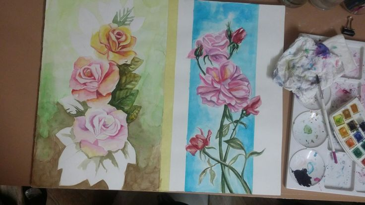 Watercolour roses by Susan Isaac