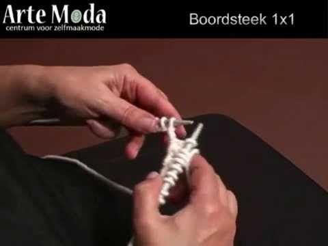 Leren breien met demonstratie video: Boordsteek 1x1 Ga naar http://www.artemoda.nl voor de geschikte wol