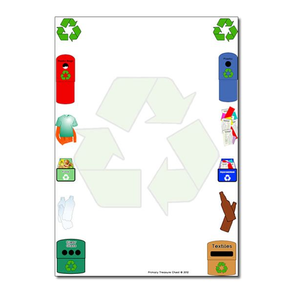 free page borders recycle