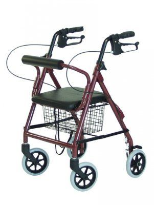 Lumex Walkabout Lite Junior Rollator, Burgundy, 1EA by GF Health. $155.00. This light-weight Walkabout Junior rollator is ideal for the pediatric user, has the same great features as the Walkabout Lite, weighs only 11.5 lbs, and is available in two attractive colors. It folds quickly and easily into a compact unit for storage or transport. Its features include a padded seat, a backrest for extra comfort, ergonomic hand grips, and easy-to-operate hand brakes.? Epoxy-coated...