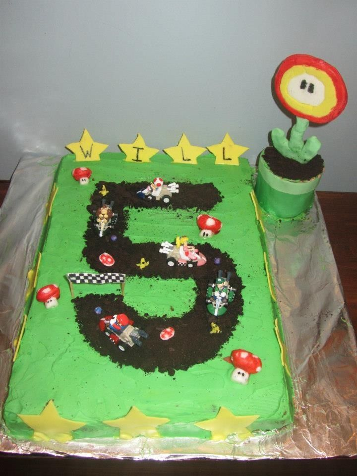 Easy Mario Kart Cake Birthday Ideas Pinterest