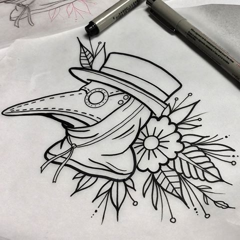 Whipped this guy up today, available as a tattoo. #wip # ...