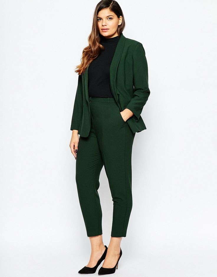 Image 4 of ASOS CURVE Blazer In Crepe With Slim Lapel