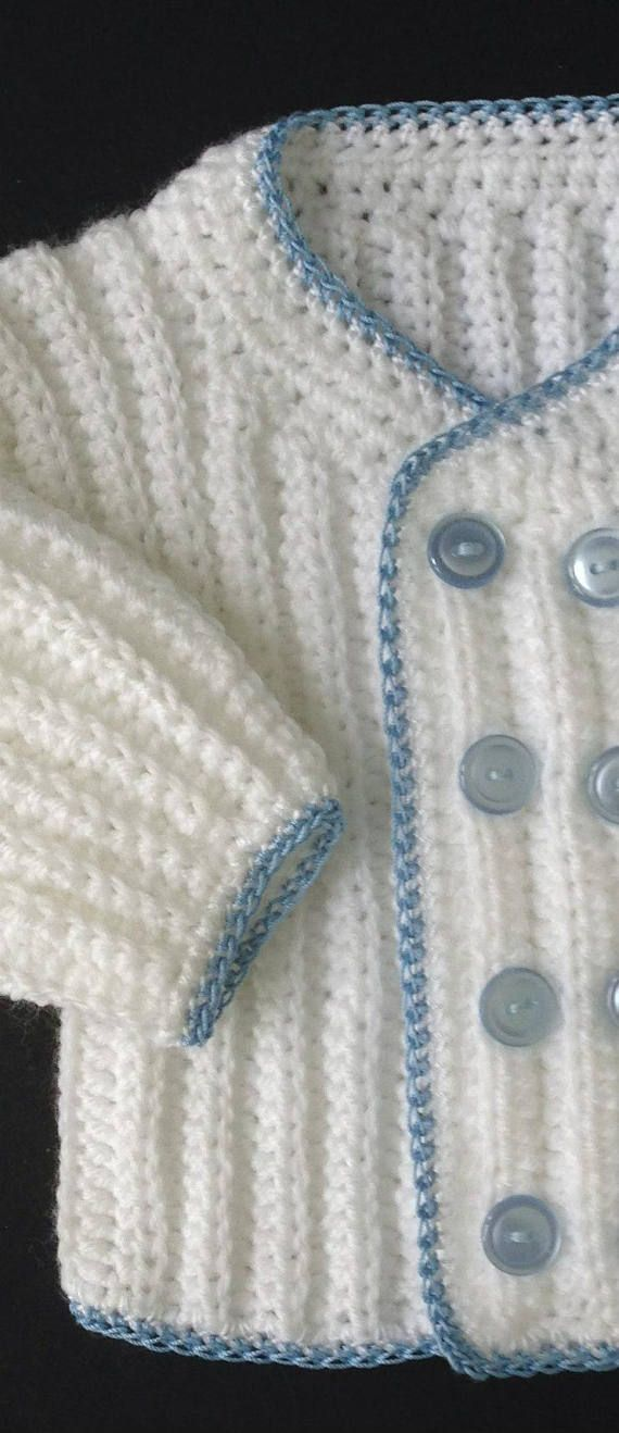 Baby Boy Coming Home/Baptism Outfit Crochet Pattern