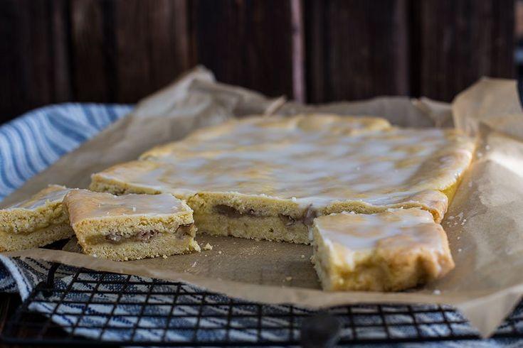 Receita de torta de maçã de chapa com nozes