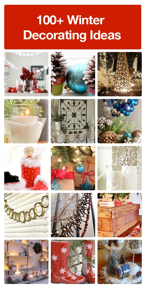 100+ winter decorating ideas to make your home beautiful after the holidays.