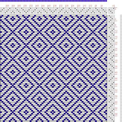 Hand Weaving Draft: Figure 649, A Handbook of Weaves by G. H. Oelsner, 4S, 4T - Handweaving.net Hand Weaving and Draft Archive