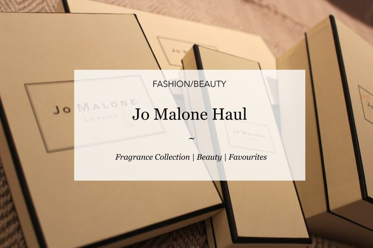 Jo Malone Haul | Courtney Says What  #blog #blogideas #jomalone #fragrance