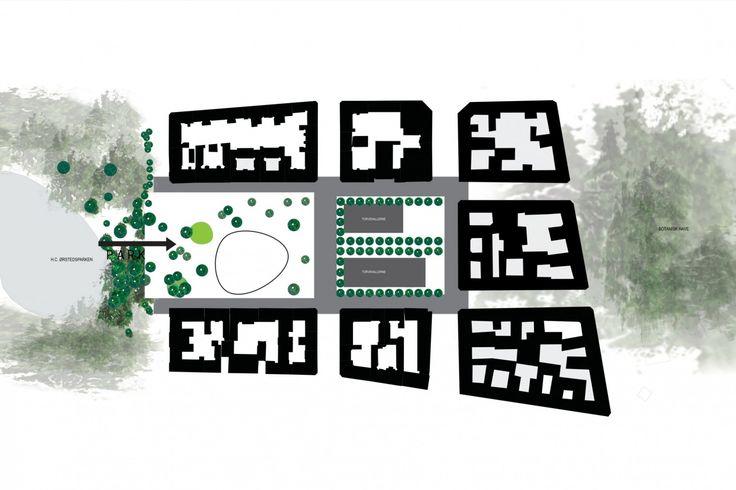 Israel's Square, COBE            Взаимопроникновение площади и парка