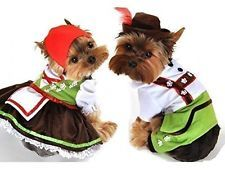 Girl Boy Pet Dog Cat Oktoberfest Lederhosen Halloween Christmas Fancy Dress Boy,