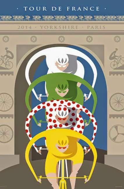 Le Tour de France by Michael Valenti Bicycle bike cycle sykkel bicicleta vélo bicicletta rad racer wheels illustration posters graphics design biking ride cycling riding #bikeart