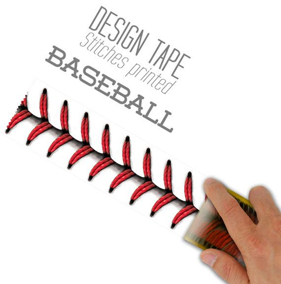 Baseball Stitches Design Tape 48mm 188inch By Verryberrysticker 999