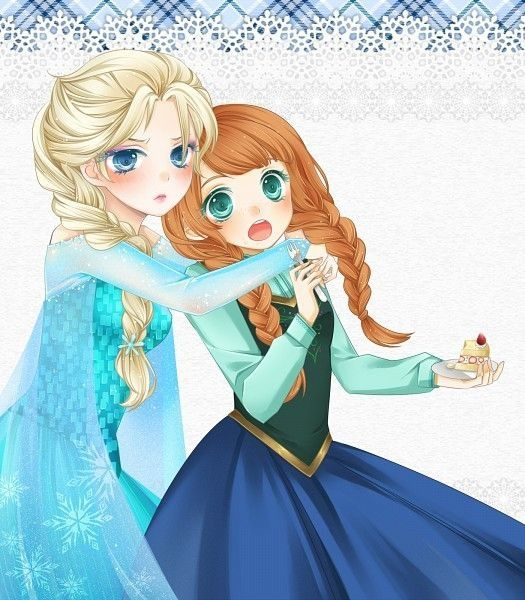 Chibi Anna And Elsa Frozen Anime Frozen Pinterest Chibi Elsa Frozen And Elsa