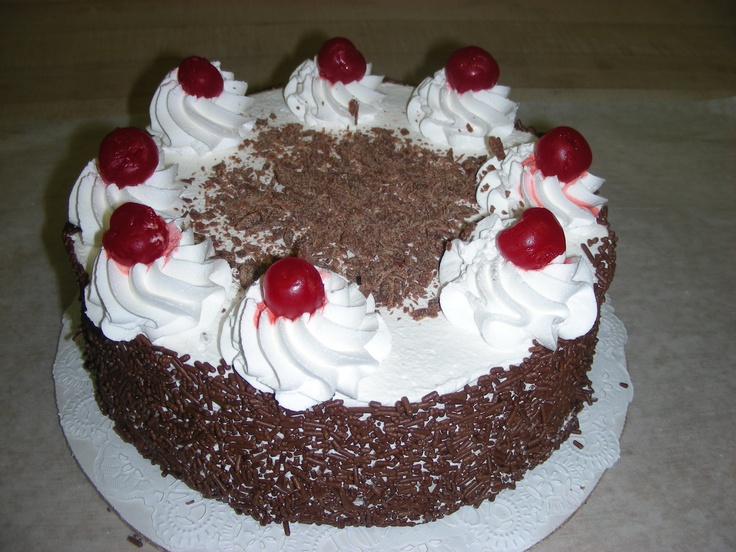 Some say juergens in germanvillage has the best black for Black forest torte recipe