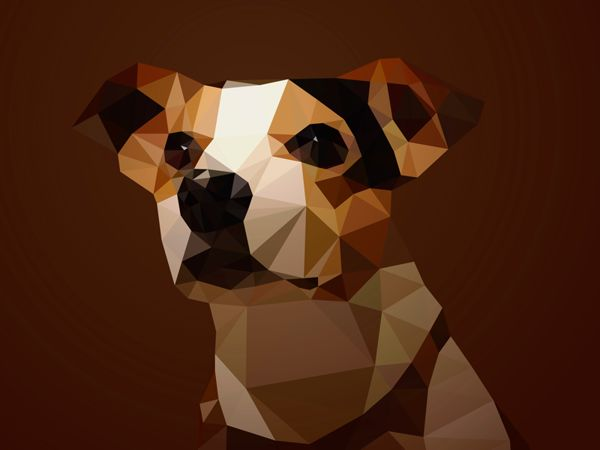 Dog Series Of Triangular And Purely Geometric Animals