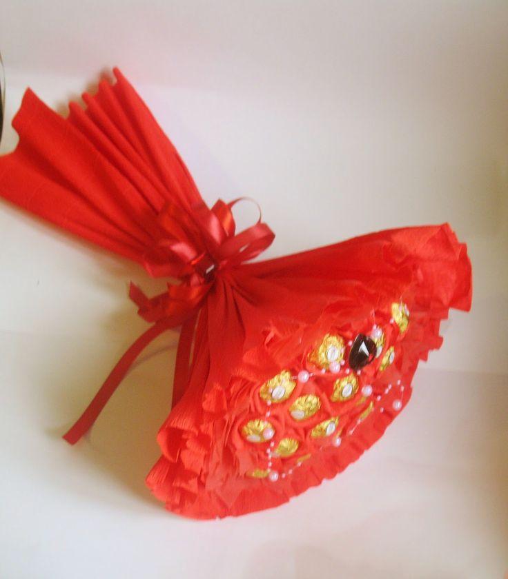 То, что я люблю!: Ручной букет с Ферреро роше