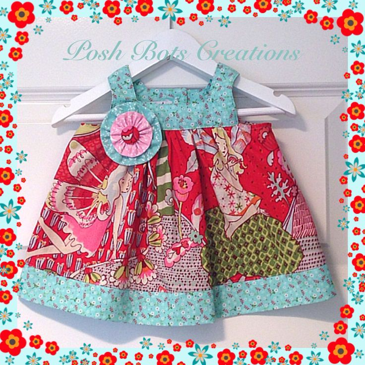 The Fair & Square Dress A sweet top or dress available in sizes NB - 8 years  #handmade #tiedyediva #babyclothes #girlsclothes