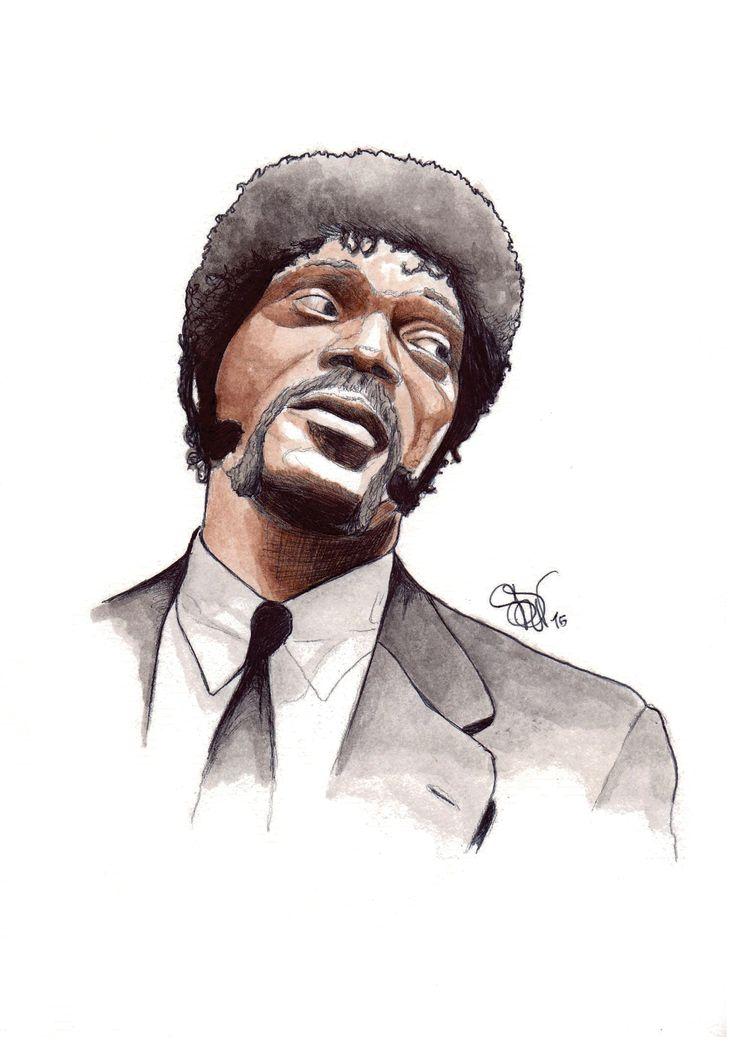 Samuel L. Jackson in Pulp Fiction. Art by SDV.