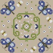 The Floss Box | Biscornu 627 Pdf pattern