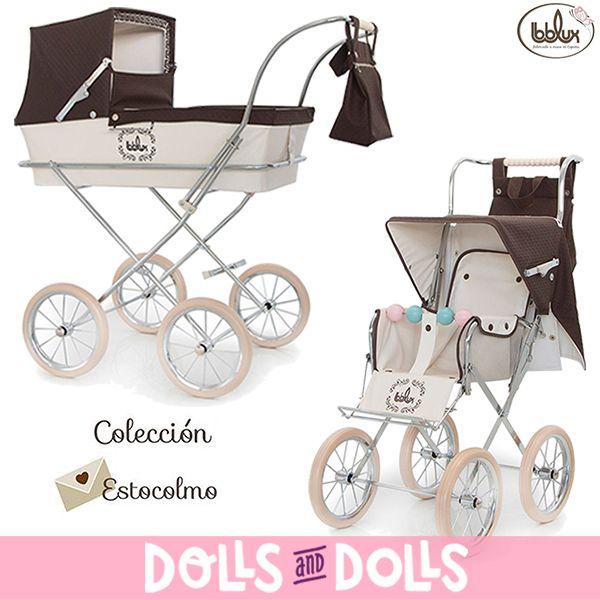 Os mostramos la colección Estocolmo de #Bebelux, elaborada con materiales de alta gama de puericultura 100% españoles. La colección está compuesta por un cochecito y una sillita color chocolate con capota, cubrepiés y bolso fabricados en tejido polipiel con entredós bordado y lazo de raso color chocolate. ⭐ Caerás en la tentación de esta exquisita colección. ⭐ #Dolls #DollsMadeInSpain #HandMade #DollsPram #DollsPushchair #Bonecas #Poupées #Bambole