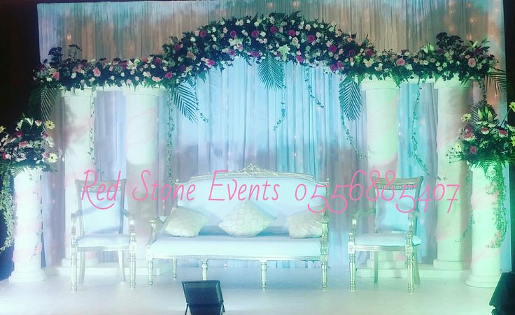 Wedding stage decoration villa lighting tent air-conditioning chairs and tables