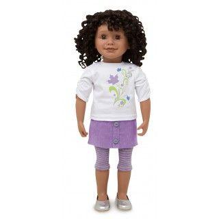 Maplelea Friend with short curly black-brown hair, medium-dark skin, brown eyes