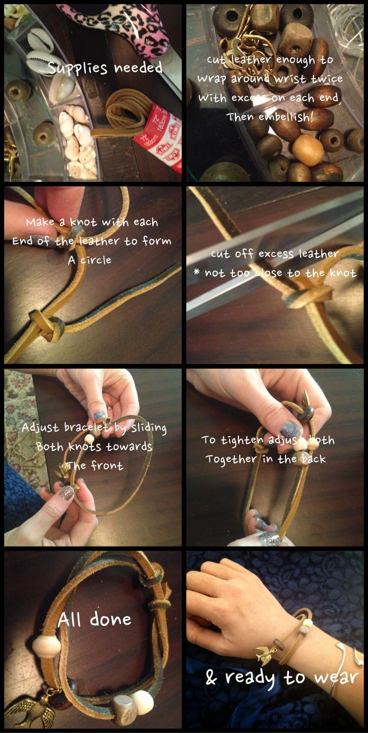 Tinker Tinker Craft: 10 Easy Leather Bracelet Tutorials