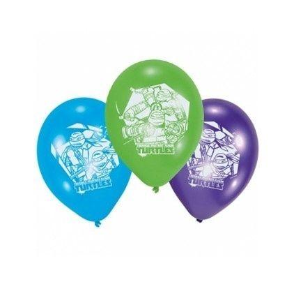 Ballonnen Ninja Turtles 6 stuks voor uw Ninja Turtles feest. Te bestellen in onze online feestshop: Feestwinkel Altijd Feest