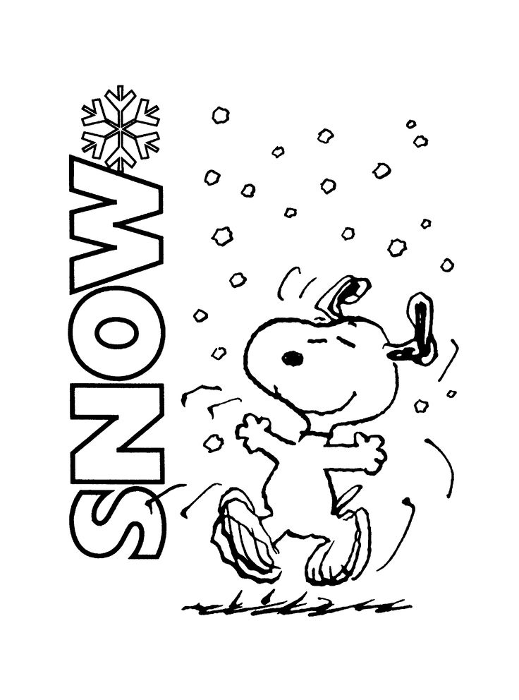 snoopy christmas coloring pages printable | 17 Best images about Snoopy/Peanuts Winter on Pinterest ...