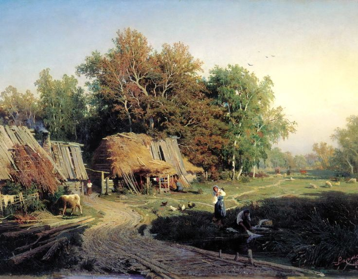 Russian Painter: Fedor Vasiliev - 'Village' This how I imagined the village my Grandfather described.