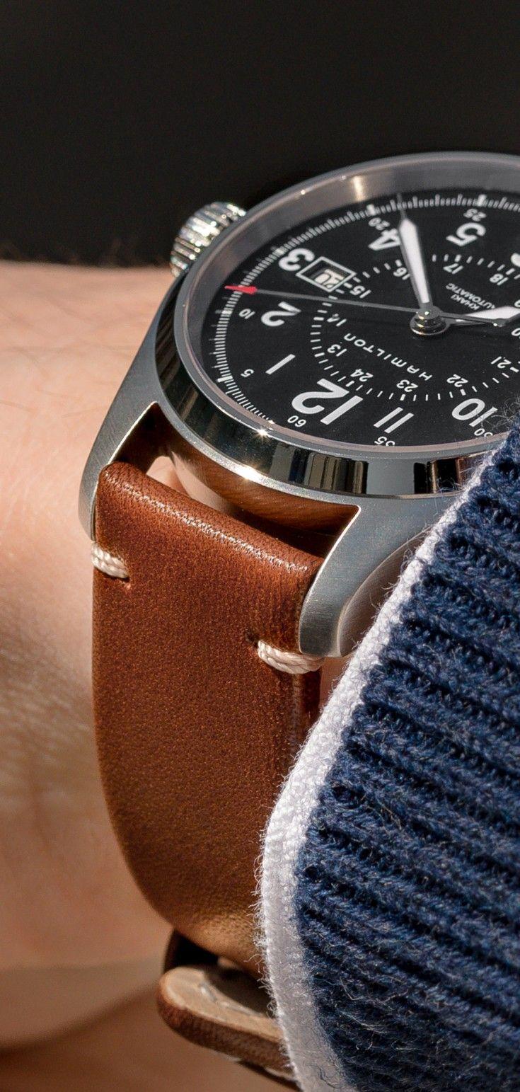 Hirsch RANGER Retro Leather Parallel Watch Strap in GOLD