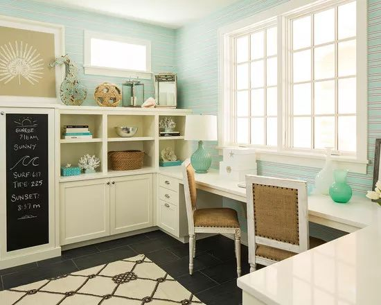 Beach Themed Office | Beautiful Homes Design                                                                                                                                                     More