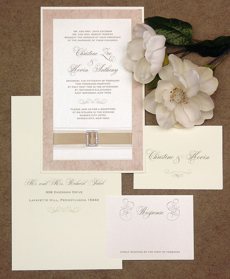 spanish wedding invitations uk%0A If champagne elegance is your theme this stunner with ribbon and bling  might be just the answer for you  Lemon Tree Stationery is the designer of  this