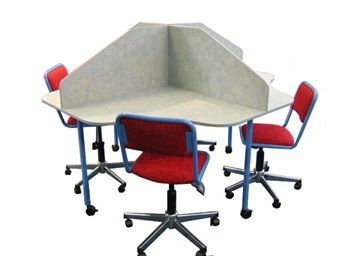 4-Way-Carrels #Educational_Furniture #educationalfurnituresuppliersMelbourne