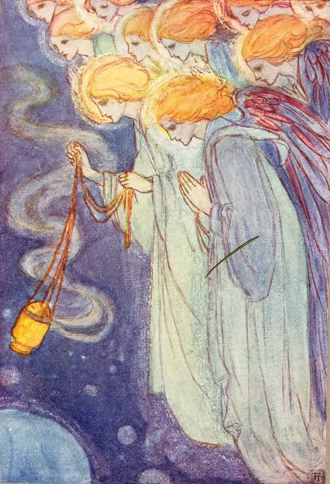 Dec 5th. On this day in 1830 Christina G. Rossetti was born. In her honour today's advent image comes from a sumptuous volume of Christina Rossetti's Poems illustrated by Florence Harrison. https://www.jonkers.co.uk/rare-book/6796/christina-rossetti-poems/christina-rossetti/florence-susan-harrison