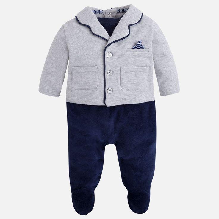 Mayoral Erkek Bebek Kışlık Ceketli Kadife Patikli Tulum Koyu Mavi