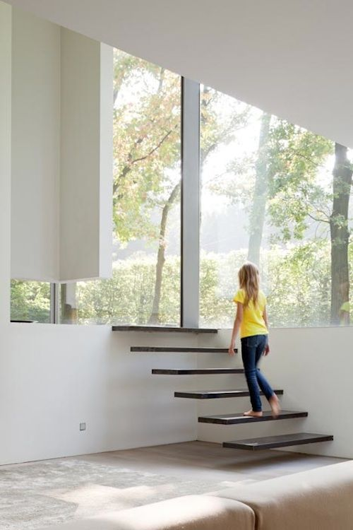 Love the floating stairs