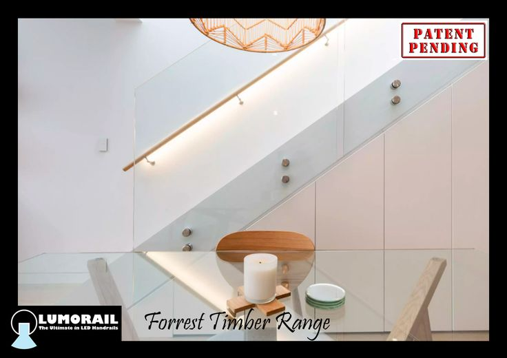 Forrest LED Handrail - Timber Kit.  Timber by others, components by Lumorail.