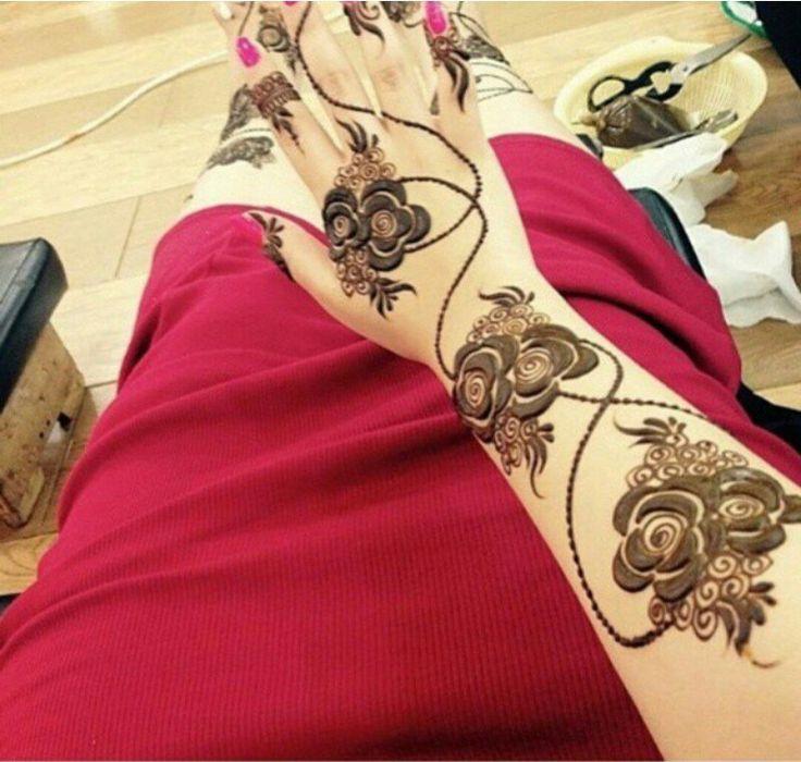 Rose Henna Pinterest39te  Kna Mehndi Designs Ve Hint