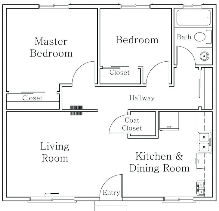 Using Autocad To Draw House Plansawesome Using Autocad To Draw House Plans And Interesting Small Apartment Plans Apartment Floor Plans Small House Floor Plans