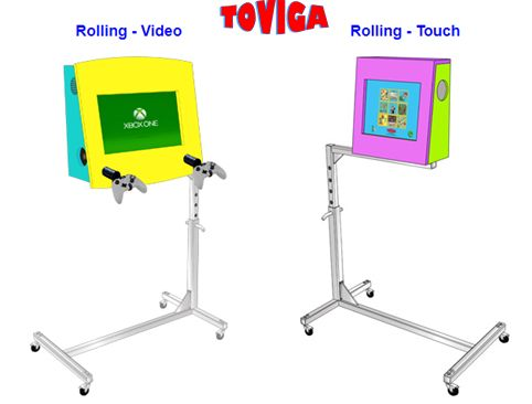 Toviga - Rolling Kiosk Stands