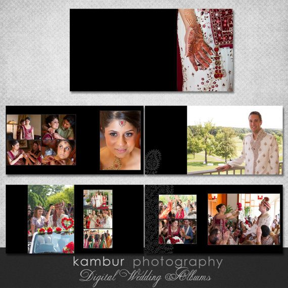10x10 Psd Wedding Al Template 14 Spread 28 Pages India Style