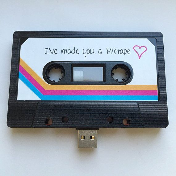 8GB USB Mixtape  Retro Personalised Gift  Ideal by TheWildCardShop
